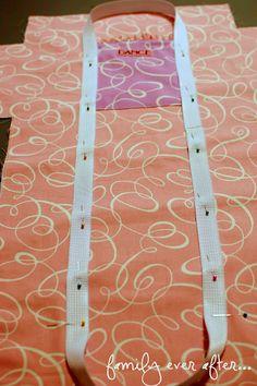 Duffle Ruffle Bag + Tutorial http://www.familyeverafterblog.com/2012/03/dance-duffle-ruffle-bag-tutorial.html