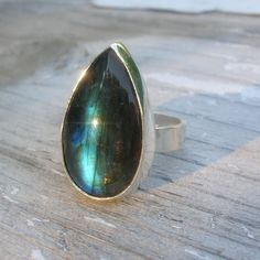 Labradorite - one of my favourite crystals because it looks like there is another universe inside of it