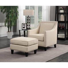 Picket House Emery Accent Chair With Ottoman   UER0802PC