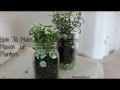How To Make A Mason Jar Planter
