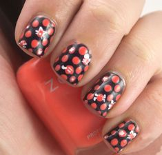 35 Creativos diseños de uñas con puntitos Gel Nail Art Designs, Nail Design Video, Colorful Nail Designs, Beautiful Nail Designs, Polka Dot Nails, Polka Dots, Glitter Gel Nails, Gel Nail Colors, Stylish Nails