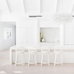 Space To Create | Ziggy Bar Stool in White