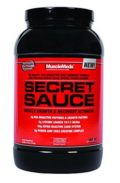 MuscleMeds Secret Sauce PostWorkout Muscle Growth and Recovery Activator Punch 31 Pound -- To view further for this item, visit the image link.