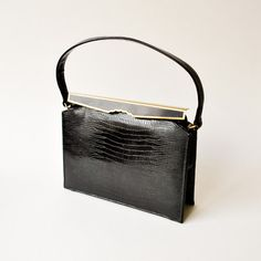Fab.com | 40s Jet Black Leather Bag