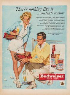 Description: 1950 BUDWEISER vintage print advertisement \