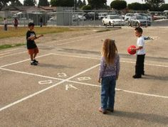 four square - my favorite playground game.