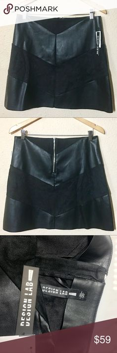"""🎪NEW ARRIVAL 🎪 Lord & Taylor Design Lab 🎪 Skirt Flirty fun AND sophisticated! This faux leather skirt can dress up and down with ease. Be a career wizard, and edgy sophisticate and a rock diva all in the same day! And of course it's fab for those who want animal friendly materials. Skirt is 18"""" long. Cheers! Lord & Taylor Skirts Mini"""