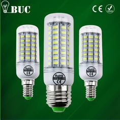 new arrival Full LED lamp E27 E14 69leds 72leds 106leds Corn Bulb 220V lamparas led Chandelier LED Spotlight