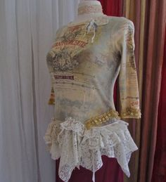 Shabby Boho Top layers of lace doilies by TatteredDelicates, $87.00