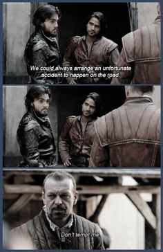 The Musketeers - 2x01 - Keep Your Friends Close, 'Athos' face in the middle frame tho... <3'