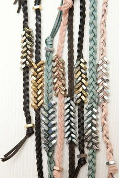 16 Cool DIY Bracelets DIY Projects & Creative Crafts – How To Make Everything Homemade - domina-jewelry. Nut Bracelet, Washer Bracelet, Heart Bracelet, Chevron Bracelet, Bracelet Charms, Baseball Bracelet, Suede Bracelet, Diy Tresses, Jewelry Crafts