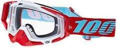 100% 50100-189-02 Unisex-Adult Kepler Racecraft MX Motocross Goggles With Clear Lens (Red/Light Blue,One Size Fits Most) Review