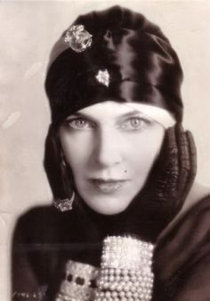 Olga Baklanova, 1920. Russian silent film actress.