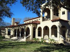 """Tuscan in rural Texas. His father was an artist that worked in a light house. The style had to include a tower. They also wanted """"old world"""" architecture. Hence the Tuscan style. Home On The Range, Tuscan House, Tuscan Style, Shiloh, Building Design, Old World, Tuscany, My House, Texas"""