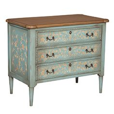 Floral Painted Bead Chest
