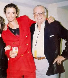 Michael Hutchence with His Father, Kell Hutchence.