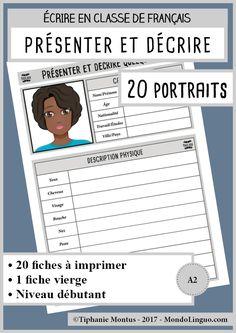 Téléchargez 20 supports pour la production écrite à imprimer et à distribuer. Contenu du PDF de 24 pages: 2 pages de présentation 20 fiches à imprimer 1 fiche vierge