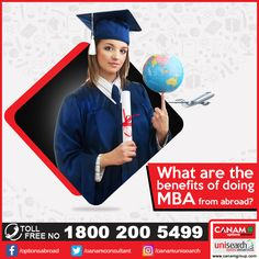 MBA is one of the most sought after courses these days and one needs to select the B-school after considering a lot of factors. So if you wish to do #MBA from #abroad, let the expert counselors of #CanamConsultants guide you for that. You can avail best help from us for #StudentVisa as well. Call us for more details at 1800-200-5499 (Toll Free).