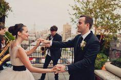 soho rooftop wedding dance