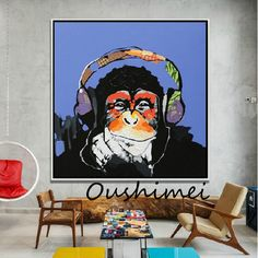 Hand-Painted-Oil-Painting-Abstract-Animal-Paintings-Funny-Monkey-Painting-For-Living-Room-Decor-Wall-Art.jpg 700×700 Pixel