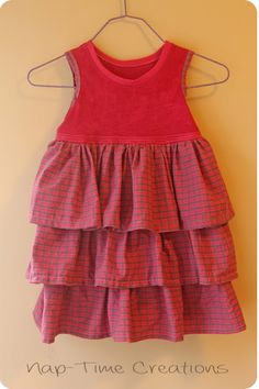 Girls Dress Sewing Tutorial {Sewing for Kids: Sibling Outfits} - Nap-time Creations