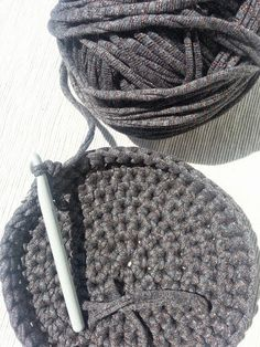 Cotton Cord, Free Knitting, Bag Making, Free Pattern, Patches, Winter Hats, Weaving, Crochet Hats, Diy Crafts