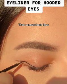 Eyebrow Makeup Tips, Makeup Tutorial Eyeliner, Edgy Makeup, Makeup Looks Tutorial, Makeup Eye Looks, Eye Makeup Art, Natural Eye Makeup, Cute Makeup, Skin Makeup