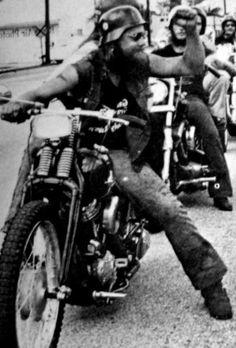 Biker 1% 70's Harley Davidson