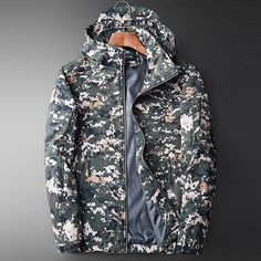 2018 New Arrival Outdoor Sports Jacket Men Camouflage Camping Hiking Jacket Hunting Clothes Hiking Jackets – Hiking Pro Long Jackets, Winter Jackets, Camouflage Coat, Hiking Accessories, Military Parka, Hiking Jacket, Types Of Jackets, Hunting Clothes, Sports Jacket