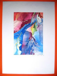 In Nature  Art on Silk / abstract painting by dagamara on Etsy, $60.00