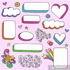 Groovy Notebook Doodle Frames Vector Designs Stock Vector - Illustration of bored, hippie: 25619620 Doodle Frames, Bullet Journal Ideas Pages, Bullet Journal Inspiration, Back To School Bullet Journal, Doodle Drawings, Doodle Art, School Picture Frames, Back To School Pictures, Notebook Doodles