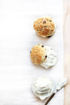 ... ginger currant scones with lemon whipped cream ...
