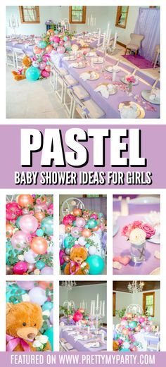 Rustic Bathroom Wall Decor Pretty Pastel Baby Shower Ideas on Pretty My Party.Rustic Bathroom Wall Decor Pretty Pastel Baby Shower Ideas on Pretty My Party Baby Shower Menu, Baby Shower Favours, Baby Shower Themes, Baby Shower Decorations, Shower Ideas, Gold Baby Showers, Shower Inspiration, Baby Shower Gender Reveal, Party Party