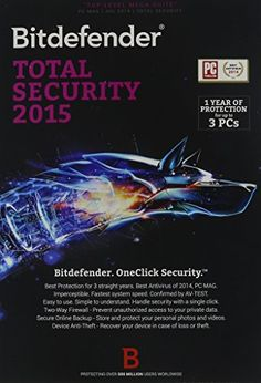Bitdefender Total Security Value Edition - 3 PC / 2 YR - http://www.rekomande.com/bitdefender-total-security-value-edition-3-pc-2-yr/