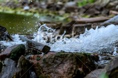 Water drops under high-speed shutter Royalty Free Stock Photo