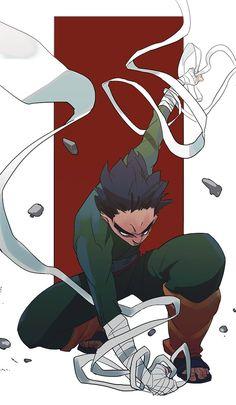 Rock Lee by Naruto Shippuden Sasuke, Anime Naruto, Naruto Fan Art, Itachi, Manga Anime, Boruto, Shikamaru, Hinata Hyuga, Naruto Wallpaper