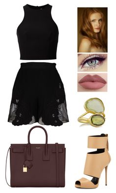 """""""Untitled #109"""" by smolllie ❤ liked on Polyvore featuring Giuseppe Zanotti, STELLA McCARTNEY, Yves Saint Laurent, T By Alexander Wang and Pippa Small"""