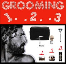 Men's Grooming 1.2.3. by wsjselect featuring Sonya Dakar beauty products  #SELECT4U- TOTAL RETAIL - $1335 - We have selected the pinnacle of high-end grooming tools and products, then we broke to process down to 3 simple steps! 1. PRE - Scrub - Wash and Exfoliate 2. SHAVE - Shaving Cream - Lubricates and Hydrates3. POST - Lotion - Moisturize and Rejuvenate  Bottega Veneta tech accessory / The Art of Shaving Engraved Silvertip Badger Brush / The Art of Shaving / Sisley Sisleÿum for Me