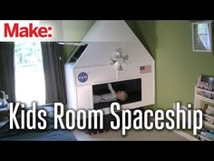 Dad builds custom spaceship playroom for his kids