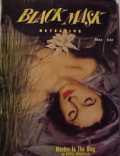 Vintage Black Mask crime fiction pulp magazine cover, May 1951