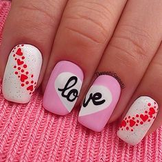 So why not dress up your nails with cute nail art too? Here are some easy-to-do nail art ideas for Valentine's Day. Fancy Nails, Love Nails, Diy Nails, Trendy Nails, Cute Nail Art, Beautiful Nail Art, Valentine Nail Art, Valentine Hearts, Valentine Ideas