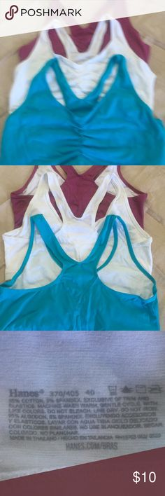 Sports bras Set of 3 new sports bras. Never worn Hanes Other