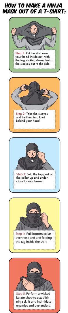 How to make a ninja mask!