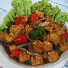 15 Resep olahan tahu sederhana instagram Fruit Salad Recipes, Tofu Recipes, Cooking Recipes, Health Recipes, Indonesian Food Traditional, Tofu Dishes, Food And Drink, Yummy Food, Lunch