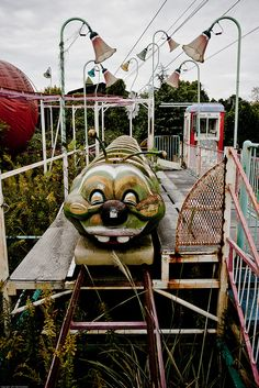Got on one of these when I was 3. There was a tarp that came over it and rode the roller coaster in the dark  Left me with claustarphobia and a fear of rides!!!