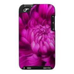Mauve floral chrysanthemum ipod touch case by Mylittleeden