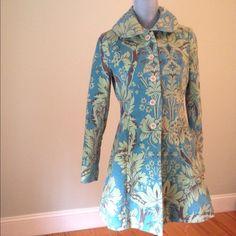 Anthropologie elevenses coat Beautiful vintage inspired coat. Cotton. Front pockets. Excellent condition Anthropologie Jackets & Coats Pea Coats