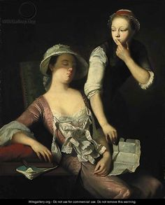 Stealing the letter - Henry Robert Morland I feel like we would do this we are all so nosy lol