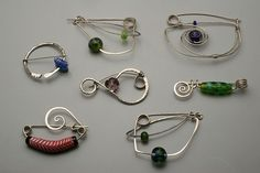 Wire and Glass Brooches by bisko7737, via Flickr
