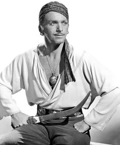 "Douglas Fairbanks Jr. en ""Simbad el Marino"" (Sinbad the Sailor), 1947"
